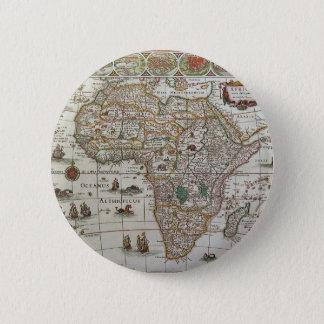 アフリカ、c. 1635年の旧式な旧世界の地図 5.7cm 丸型バッジ