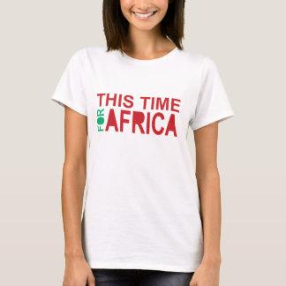 アフリカWaka-wakaの女性のTシャツのための今回 Tシャツ
