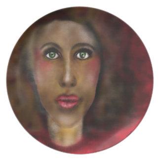 アフロの女性 プレート