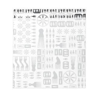 アフロの櫛新しいBlack.ai ノートパッド