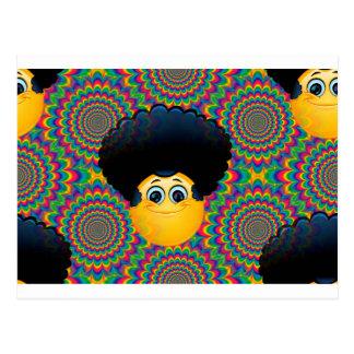 アフロのemojis ポストカード