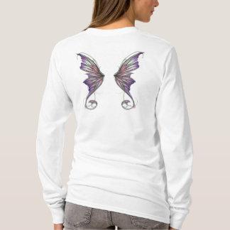 アフロディーテのラベンダーの妖精の翼 Tシャツ
