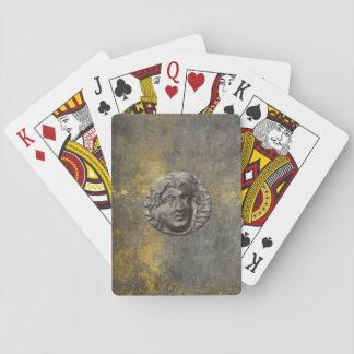 アフロディーテの滑稽なギリシャの硬貨の汚いトランプ トランプ