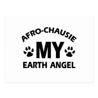 アフロchausie猫のデザイン ポストカード