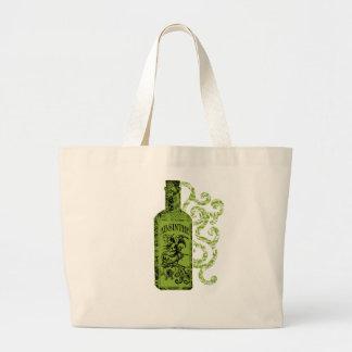 アブサンのボトルの渦巻 ラージトートバッグ