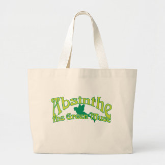 アブサンの文字緑のムーサ ラージトートバッグ