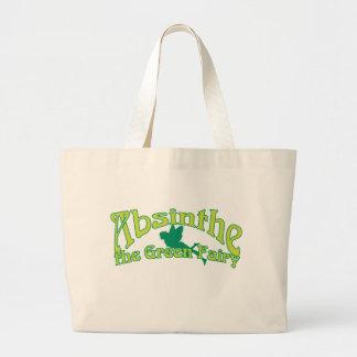 アブサンの文字緑の妖精 ラージトートバッグ