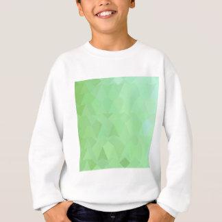アブサンの緑の抽象芸術の低い多角形の背景 スウェットシャツ