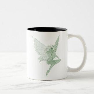 アブサンの芸術の署名の緑の妖精1A ツートーンマグカップ