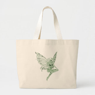 アブサンの芸術の署名の緑の妖精1B ラージトートバッグ