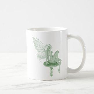 アブサンの芸術の署名の緑の妖精2A コーヒーマグカップ
