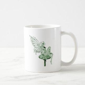 アブサンの芸術の署名の緑の妖精2B コーヒーマグカップ