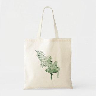 アブサンの芸術の署名の緑の妖精2B トートバッグ