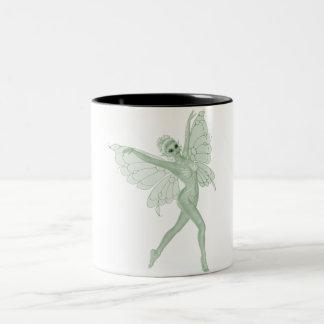 アブサンの芸術の署名の緑の妖精3A ツートーンマグカップ