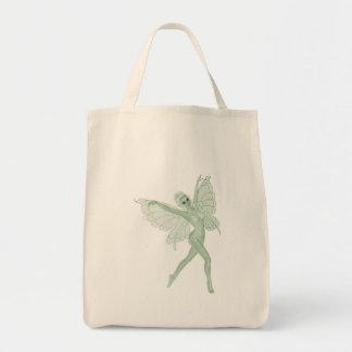 アブサンの芸術の署名の緑の妖精3A トートバッグ