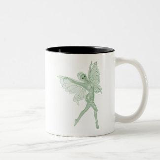 アブサンの芸術の署名の緑の妖精3B ツートーンマグカップ
