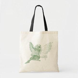 アブサンの芸術の署名の緑の妖精4 トートバッグ