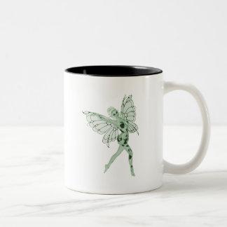 アブサンの芸術の署名の緑の妖精8 ツートーンマグカップ