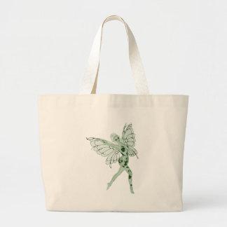 アブサンの芸術の署名の緑の妖精8 ラージトートバッグ