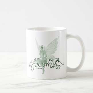 アブサンの芸術の署名の緑の妖精-アブサン コーヒーマグカップ