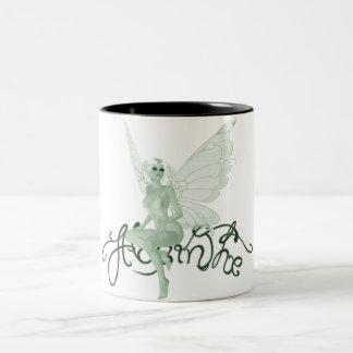 アブサンの芸術の署名の緑の妖精-アブサン ツートーンマグカップ