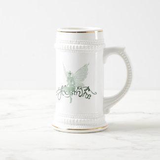 アブサンの芸術の署名の緑の妖精-アブサン ビールジョッキ