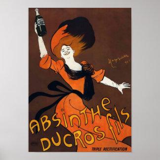 アブサンのDucros Filsのヴィンテージポスター ポスター