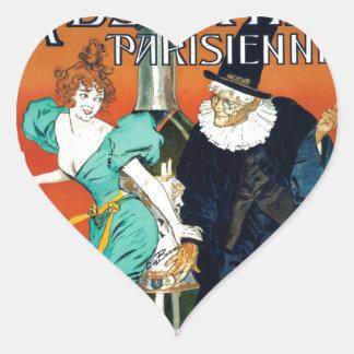 アブサンのParisienneのヴィンテージのフランス広告 ハートシール