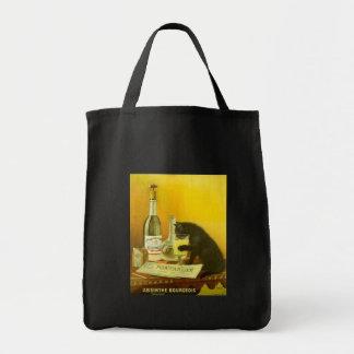 アブサンブルジョアおよび猫の素晴らしいヴィンテージポスター トートバッグ