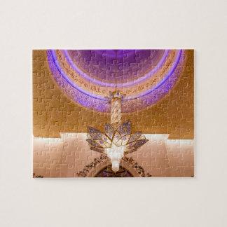 アブダビのZayed教主のモスクのシャンデリア パズル