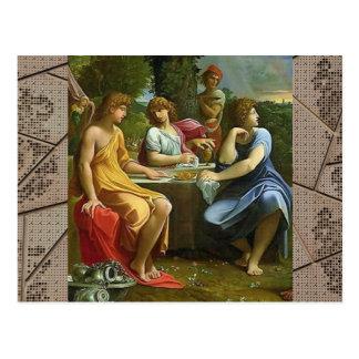 アブラハムおよび3つの天使 ポストカード