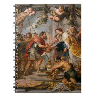 アブラハムおよびMelchizedek Rubensの芸術の会合 ノートブック