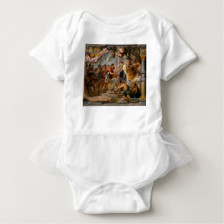 アブラハムおよびMelchizedek Rubensの芸術の会合 ベビーボディスーツ