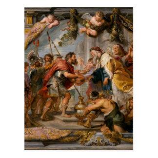 アブラハムおよびMelchizedek Rubensの芸術の会合 ポストカード