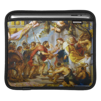 アブラハムおよびMelchizedek Rubensの芸術の会合 iPadスリーブ