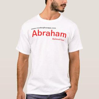 アブラハムは神を信じました Tシャツ