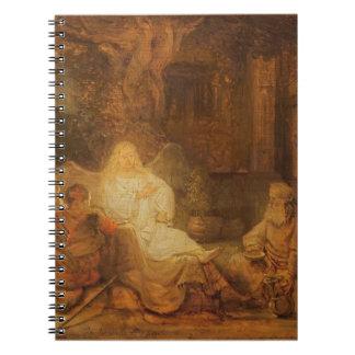 アブラハムは3つの天使1646年を受け取ります(paの油 ノートブック
