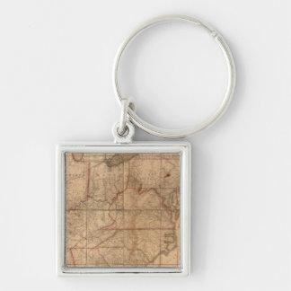 アブラハムブラッドリーの後輩による米国の地図 キーホルダー