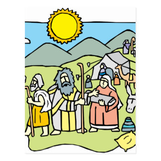 アブラハム及びサラ ポストカード