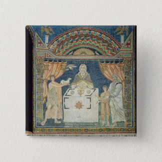 アブラハム、アイザックおよびMelchisedech 5.1cm 正方形バッジ