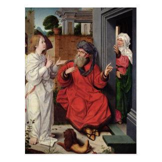 アブラハム、サラおよび天使、c.1520 ポストカード