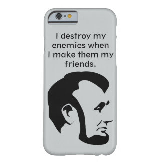 """アブラハム""""Abe""""リンカーンの引用文のIPhone6ケース Barely There iPhone 6 ケース"""