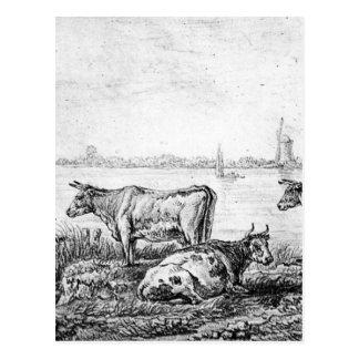 アブラハムvan Strij著Dordrechtの眺め ポストカード