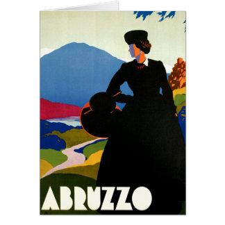 アブルッツォイタリアのヴィンテージ旅行芸術 カード