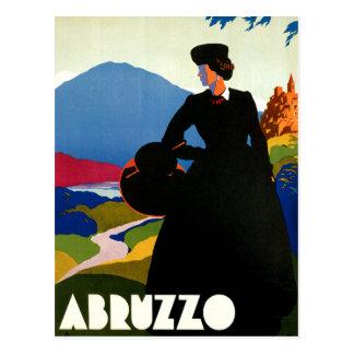 アブルッツォイタリアのヴィンテージ旅行芸術 ポストカード