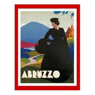 アブルッツォイタリアのヴィンテージ ポストカード