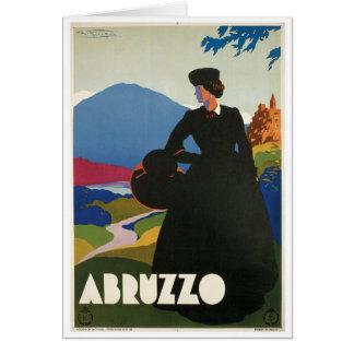 アブルッツォ、イタリアのヴィンテージ旅行ポスター カード