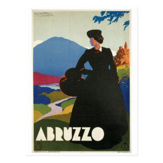 アブルッツォ、イタリアのヴィンテージ旅行ポスター ポストカード