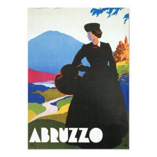 アブルッツォ、イタリアのヴィンテージ旅行広告ポスター カード
