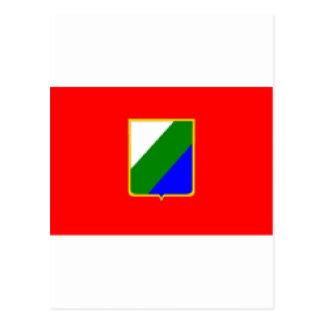 アブルッツォ(イタリア)の旗 ポストカード